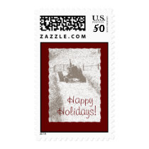 Holiday Tractor Postage