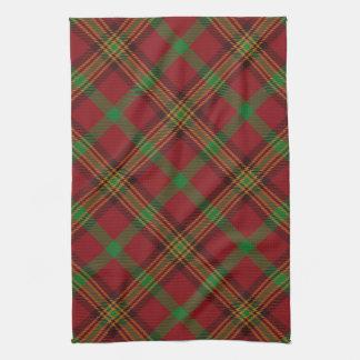 Holiday Traditional Christmas Tartan Pattern Hand Towel