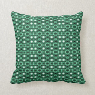 """Holiday Traditions"": Green, Whi, Blk Throw Pillow"