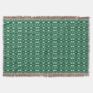 """Holiday Traditions"": Grn/Blk/Whi Throw Blanket"