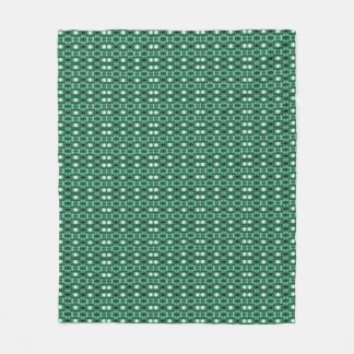 """Holiday Traditions"" Grn/Whi/Blk Fleece Blanket"