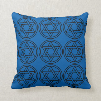 """Holiday Traditions"" Reverse Blue Silver Pillow"