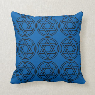 """Holiday Traditions"" Star of David Blu/Slvr Pillow"