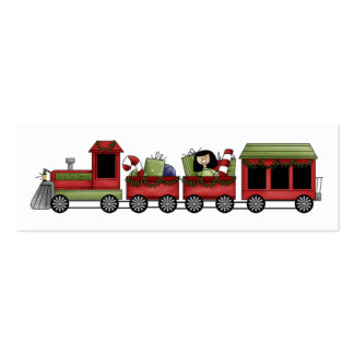 Holiday Train Gift Tag Double-Sided Mini Business Cards (Pack Of 20)