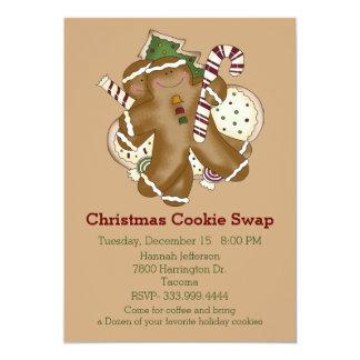 Holiday Treats Christmas Cookie Swap Invitation