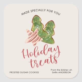 Holiday Treats From the Kitchen of, Watercolor Square Sticker