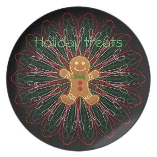 holiday treats gingerbread man christmas plate