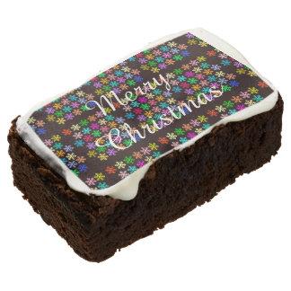 Holiday Treats Merry Christmas Brownie