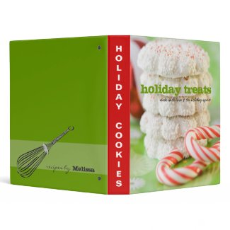 Holiday Treats Recipe Binder binder