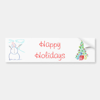 Holiday tree bumper sticker