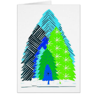 Holiday Tree Forest Card