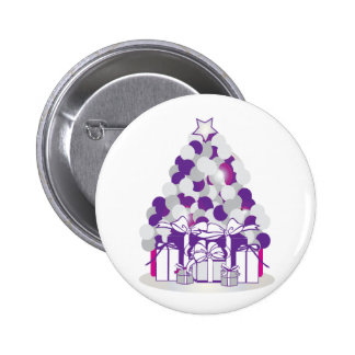 Holiday Tree Pinback Button