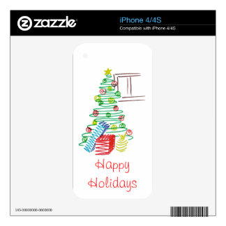 Holiday tree iPhone 4 skins