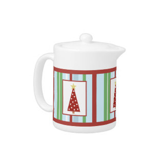 Holiday Tree Teapots