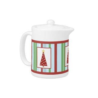 Holiday Tree Teapots