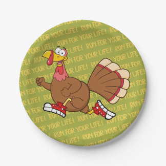 Holiday Turkey Cartoon Paper Plate