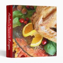 Holiday Turkey Favorite Recipe 3 Ring Binder
