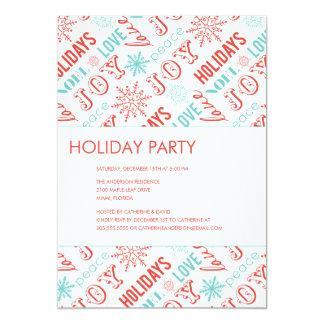 "HOLIDAY TYPE  | HOLIDAY PARTY INVITATIONS 5"" X 7"" INVITATION CARD"