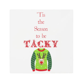 Holiday Ugly Sweater Metal Wall Art
