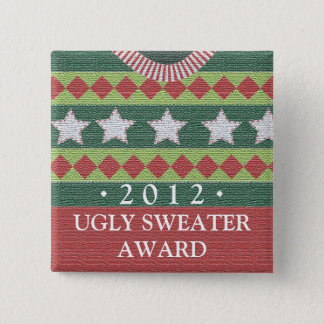 Holiday Ugly Sweater Party Contest Winner Award Pinback Button