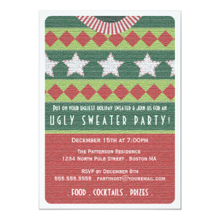 Holiday Ugly Sweater Party Invitation at Zazzle