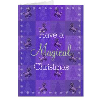 """Holiday Unicorn"" Christmas Note Cards (Purple)"