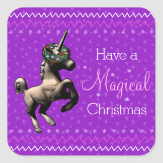 "Holiday Unicorn ""Magical Christmas"" Stickers (Ppl)"