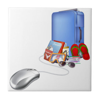 Holiday vacation online shopping ceramic tiles