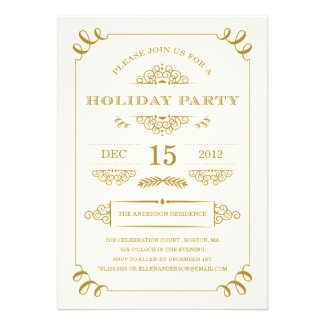 HOLIDAY VINTAGE | HOLIDAY PARTY INVITATIONS