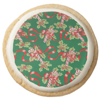 Holiday vintage print cookies