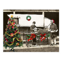 holiday wagon postcard