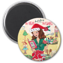 Holiday Warm Wishes Christmas | Magnet