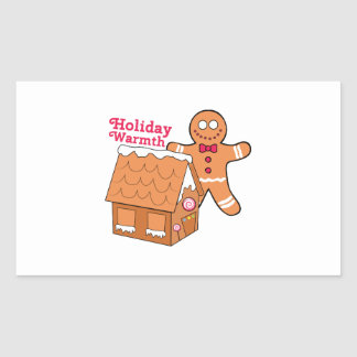 Holiday Warmth Rectangular Stickers