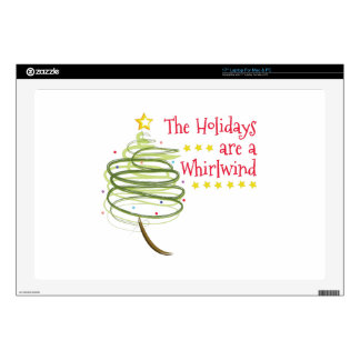 """Holiday Whirlwind 17"""" Laptop Decals"""