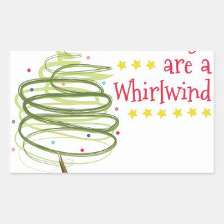 Holiday Whirlwind Rectangular Sticker