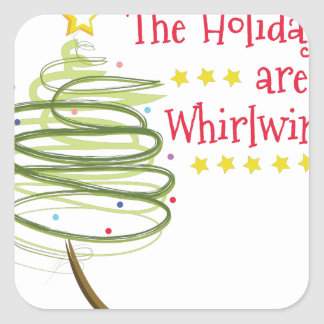 Holiday Whirlwind Square Sticker