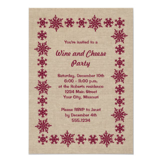 Holiday Wine and Cheese Party Invitations