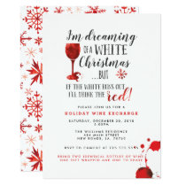 Holiday Wine Exchange Party Invitations