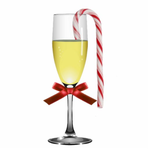 Holiday Wine Glass Ornament Acrylic Cut Out Zazzle