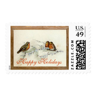 Holiday Winter Birds Stamp