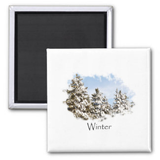 Holiday Winter Cabin in the Snow Magnet