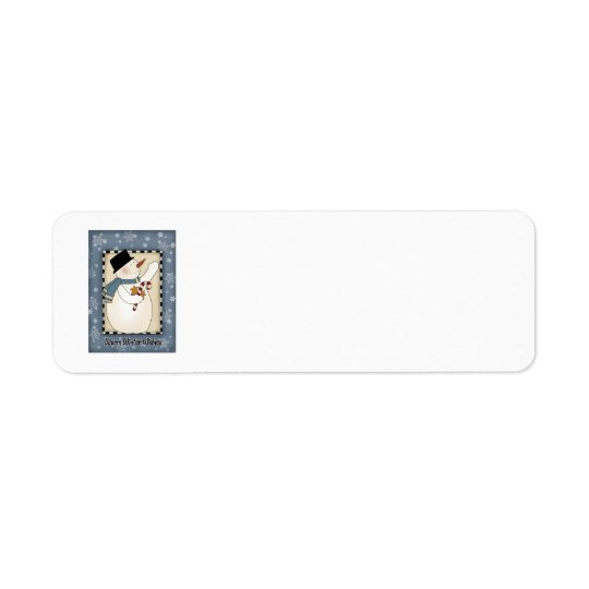 Holiday Winter Wishes Snowman Label