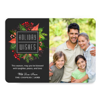 Holiday Wishes and Sayings Christmas Family Photo Card