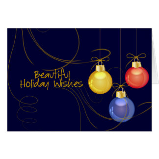 Holiday Wishes Christmas Card
