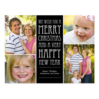 Holiday Wishes Christmas Photo Card Postcard