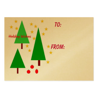 Holiday Wishes gift tag Business Card Templates
