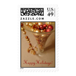 Holiday Wishes Postage Stamp
