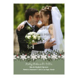 Holiday Wishes Wedding Photograph Card