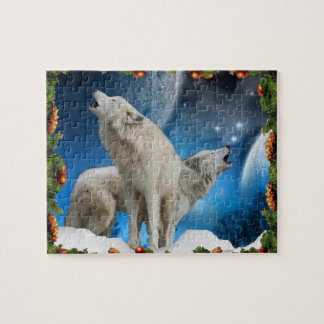 Holiday Wolf singers on a great puzzle