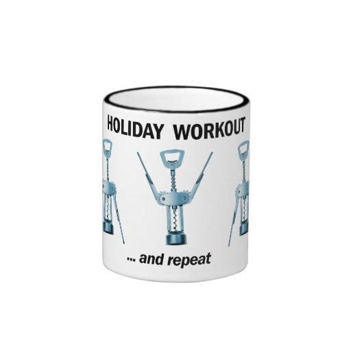 Holiday Workout Coffee Mugs